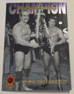 2000 Hulk Hogan Antonio Inoki Bandai '82 MSG New Japan Pro Wrestling Card #SP-8