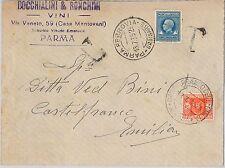 ITALIA REGNO - Storia Postale - MARCA DA BOLLO  su BUSTA TASSATA 1935