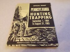 VTG Pennsylvania Hunting Trapping Regulations Digest 1964 1965