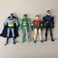 DC Comics Batman 4 Action Figures Kenner Robin Batman 80's -90's AR166