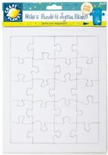 Craft Planet 20pce Blank A4 Jigsaw Puzzle White Kids Creative Fun Pk2