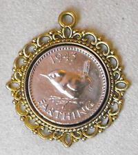 1947 settantesimo compleanno Lucky Bird centesimo Ciondolo Charm Tono Oro Regalo DAVID BOWIE