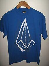 Volcom Tee - Urban Fashion Diamond Pyramid Volcom Logo Blue & White T Shirt Med