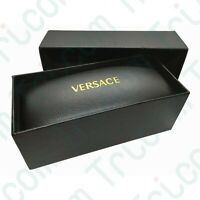 Versace Sunglasses Eyeglasses Black Hard Case and Cloth with Gift Box