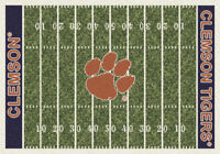 "5x8 Milliken Clemson Tigers 1050 NCAA Home Field Area Rug - Approx 5'4""x7'8"""