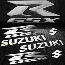 "5.75"" ABS Logo+Letter Decal+6.25"" GSXR GSX Fairing Emblem Sticker Suzuki Chromed"