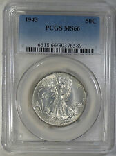 1943 Walking Liberty Half Dollar PCGS MS66