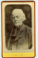 PHOTO CDV dos nu beau portrait d'un religieux prêtre curé religion vers 1880