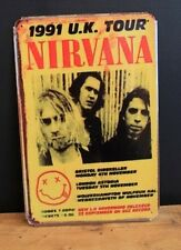 Nirvana 1991 UK Tour Vintage Metal Sign ( 20x30cm )