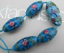 Antique Venetian Aventurine Fancy Trade  Beads Floral Roses for Glass Necklace