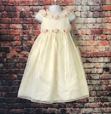 CINDERELLA Gorgeous Yellow Ivory Lace Tulle Fancy Toddler Girl Dress Size 4T NEW