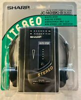 Sharp JC-140(BK) Portable AM/FM Stereo Cassette Player - Vintage - New - Black
