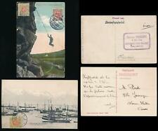 ICELAND 1909 + 1917 PPCs SHIPS + ABSEILING...DUQUESNE FRANCE