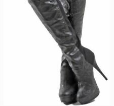 Iron Fist Manslayer Stiletto Thigh High Boots Sz 7 Brand New In Box Rare Skulls