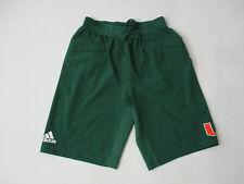 Adidas Miami Hurricanes Basketball Shorts Adult Small Green Orange Dri Fit Mens
