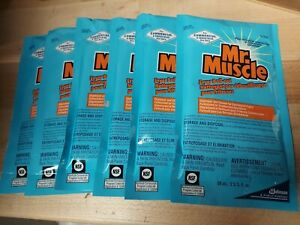 6ea Mr. Muscle Fryer Grill Boil-Out Degreaser & Cleaner 2oz Packets 991209 USA
