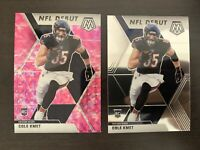 Cole Kmet 2020 Mosaic Rookie NFL Debut Base PINK CAMO Prizm BEARS 2 Card Clean🔥