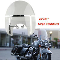 """23x21"""" pare-brise Detachable 7/8"""" 1"""" pour Harley Sportster Dyna Glide Softail"""