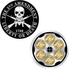 The 2nd Amendment Liberty or Death 1789 Demon Skull Challenge Coin