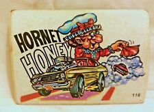 1970S SCANLENS ODDEST ODD RODS STICKER #116 AMC HORNET HONEY MUSCLE CAR DONRUSS