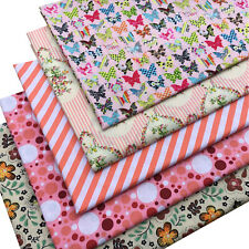 Butterfly Floral Stripes Dots FAT QUARTERS BUNDLE Cotton Fabric Craft Mateiral