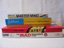 Old Games Vintage Invicta MASTER MIND, Mad Magazine, Yahtzee, Careers
