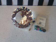 Swarovski Crystal Large Chaton Paperweight Was $500 N0w $300 Bonus Crystals