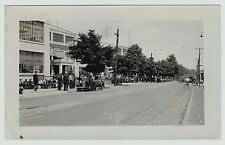 RARE Unique Snapshot Photo 1930s IBM - Endicott NY Street Scene Buildings