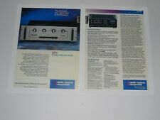 Audio Research SP-9 Tube Preamplifier Brochure '89, 2 pgs, Specs, Info Preamp