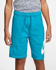 Medium - Nike Boys' Sportswear Club Fleece Shorts CK0509 447 Chlorine Blue