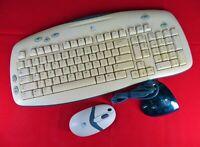 LOGITECH CORDLESS DESKTOP EXPRESS LX300 Wireless Keyboard Mouse Y-RQ57 MRR95 PS2