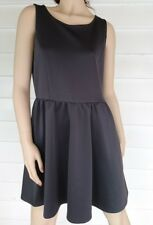 Miss Shop Dress Grey Fit & Flare Sleeveless Stretch Exposed Zip Size 14