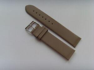 Uhrband Leder grau 18 mm zum anschrauben für z.B. SKAGEN BERING BOCCIA OBAKU