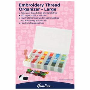 Hemline Large Embroidery Plastic Floss/Thread Box/Organiser
