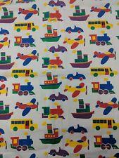 Katsuji Wakisaka Pikku Bo Boo Style Cotton Fabric Material Print VTG 60s Remnant
