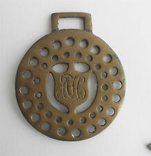 Victorian Brass SADDLE Decoration: Punched Holes & Initialed