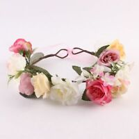 Wedding Girls Kids Crown Headband Headwear Rose Flower Hairband Floral Garland