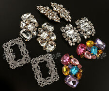 2Pcs Crystal Shoe Clips Charm Jibbitz Bridal Rhinestone Shoes Decor Portable