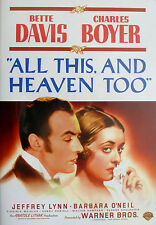 ALL THIS AND HEAVEN TOO [1940] Bette Davis REGION 2 UK RELEASE + Many Extras DVD