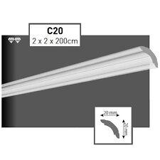 24 Meter Styroporleisten Zierprofile Stuckprofile Stuckleiste 20x20mm  C20