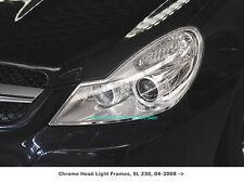 Mercedes R230 SL300 500 550 SL63 Chrome headlamp Surrounds