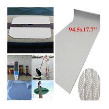 Grey 6mm EVA Foam Teak Carpet Yacht Marine Boat Flooring Floor Mat 94.5x17.7''