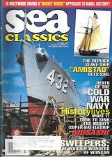 Sea Classics Oct.2000 Slave Ship Amistad Cold War Navy MUSASHI Minesweepers
