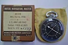 Vintage Hamilton 4992B 22 jewels Navigation 1942 WW2 pocket watch w/box & pouch