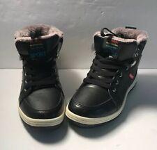 FASHION PROFESSIONAL SKATEBOARD SPORT Sz41 US8 Shoe Black Suede Hightop Shoes