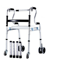 D18 Foldable Rollator Walking Frame Outdoor Indoor Mobility Walker Aids Crutch M