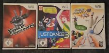 Wii Party Paket - 3Spiele Game Party 3 , Just Dance 3 , The Voice of Germany