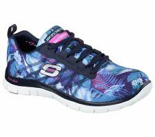 Skechers Flex Appeal Memory Foam Trainers Floral Bloom  women's shoe12061 size 5