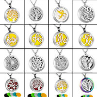 New Hot Diffuser Locket Pendant Aromatherapy Essential Oil Perfume Necklace N9 N