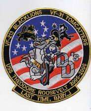 PATCH USN F-14 TOMCAT VF-31 TOMCATTERS DOUBLE D´S VF-213 BLACKLIONS LAST  TIME